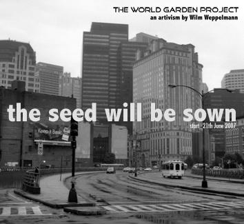 Plakat world garden project quadratisch klein